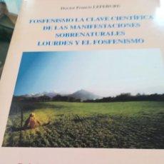 Libros de segunda mano: FOSFENISMO LA CLAVE CIENTIFICA DE LAS MANIFEST. SOBRENATURALES..-LEFEBURE-1º EDICION-2002. Lote 137139650