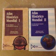 Libros de segunda mano: ATLAS HISTÓRICO MUNDIAL TOMO I + TOMO II (HERMANN KINDER / WERNER HILGEMANN). Lote 137142757