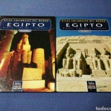 Libros de segunda mano: ATLAS CULTURALES DEL MUNDO. EGIPTO. VOLUMEN I Y II. Lote 137483726