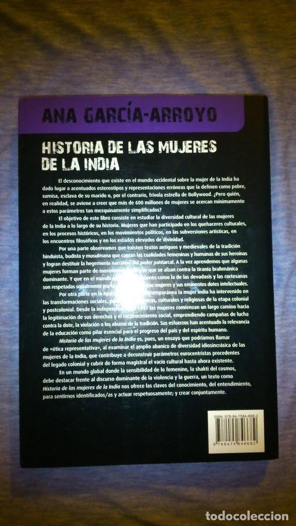 Libros de segunda mano: Historia de las mujeres de la India. Sobre ritos y realidades. 2009 - Foto 2 - 137563994