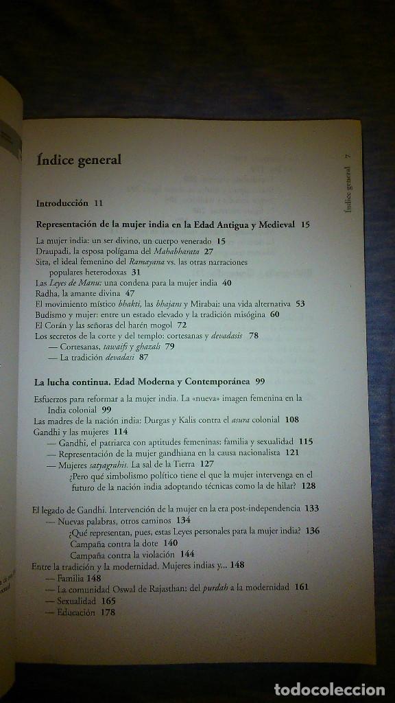 Libros de segunda mano: Historia de las mujeres de la India. Sobre ritos y realidades. 2009 - Foto 5 - 137563994