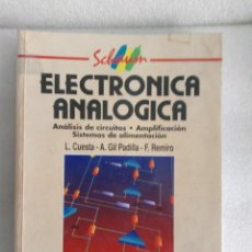 Libros de segunda mano: ELECTRONICA ANALOGICA - ANALISIS DE CIRCUITOS, AMPLIFICACION, SISTEMAS AMP - MCGRAW HILL. Lote 137711606