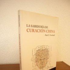 Libros de segunda mano: PAUL U. UNSCHULD: LA SABIDURÍA DE CURACIÓN CHINA (LA LIEBRE DE MARZO, 2004) PERFECTO. Lote 137927122