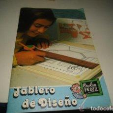 Libros de segunda mano: LIBRO DE INSTRUCCIONES TABLERO DE DISEÑO ESCOLAR FEBER -- REFGIMHAULEMGRMACABRU. Lote 138054598