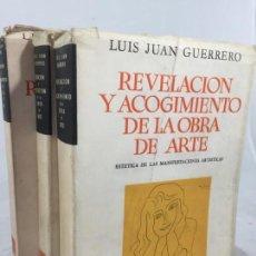 Libros de segunda mano: ESTÉTICA OPERATORIA EN SUS TRES DIRECCIONES LUIS JUAN GUERRERO 3 TOMOS OBRA COMPLETA 1959 LOSADA. Lote 138090778