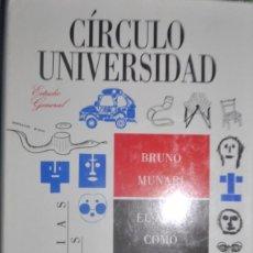 Libros de segunda mano: BRUNO MUNARI.EL ARTE COMO OFICIO. CÍRCULO DE LECTORES 1989. 194 PÁG.. Lote 138629498