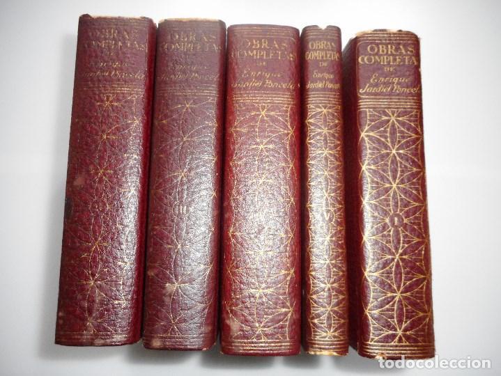 ENRIQUE JARDIEL PONCELA OBRAS COMPLETAS (5 TOMOS) Y90811 (Libros de Segunda Mano (posteriores a 1936) - Literatura - Otros)
