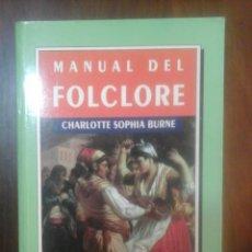 Libros de segunda mano: MANUAL DEL FOLCLORE. Lote 138936282
