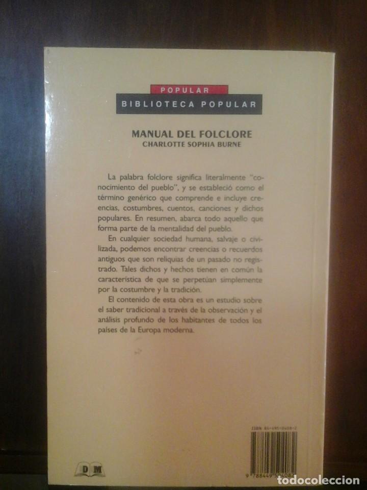 Libros de segunda mano: MANUAL DEL FOLCLORE - Foto 2 - 138936282