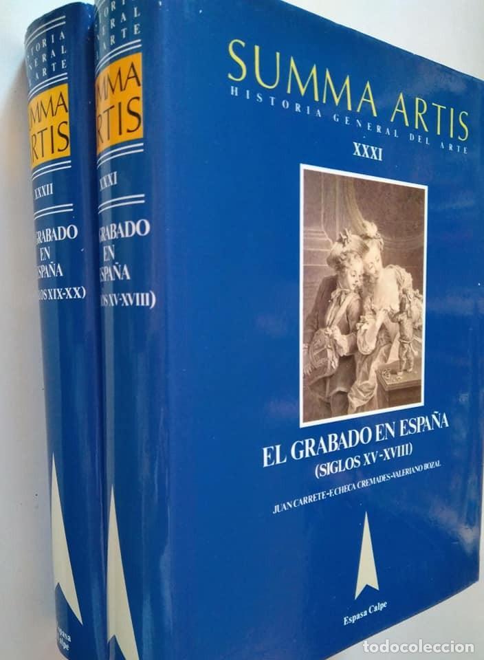 SUMMA ARTIS XXXI Y XXXII. EL GRABADO EN ESPAÑA (SIGLOS XV-XVIII) Y (XIX-XX) (Libros de Segunda Mano - Bellas artes, ocio y coleccionismo - Otros)