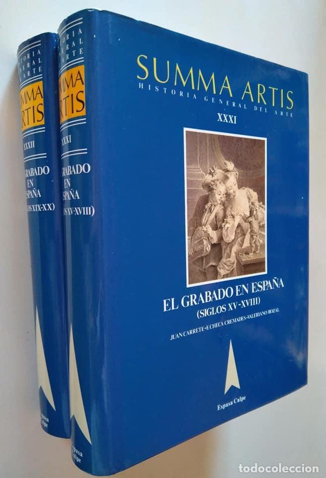Libros de segunda mano: Summa Artis XXXI y XXXII. El grabado en España (Siglos XV-XVIII) y (XIX-XX) - Foto 4 - 138943570