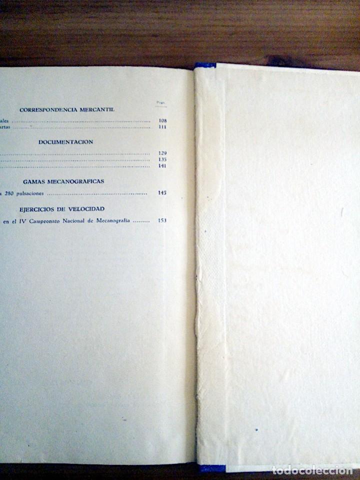 Libros de segunda mano: LA VERDADERA MECANOGRAFÍA AL TACTO. DOMINGO CASTAÑEDA, GREGORIO. RYVADENEYRA. 1 ª ED. 1949 - Foto 8 - 138945206