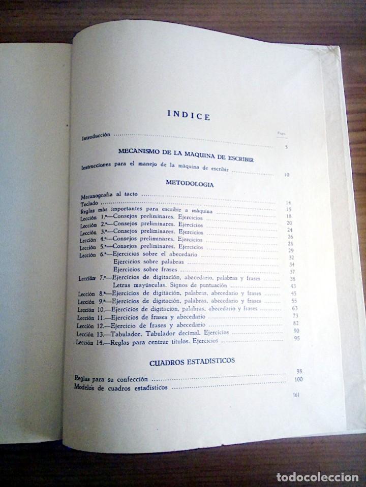 Libros de segunda mano: LA VERDADERA MECANOGRAFÍA AL TACTO. DOMINGO CASTAÑEDA, GREGORIO. RYVADENEYRA. 1 ª ED. 1949 - Foto 12 - 138945206