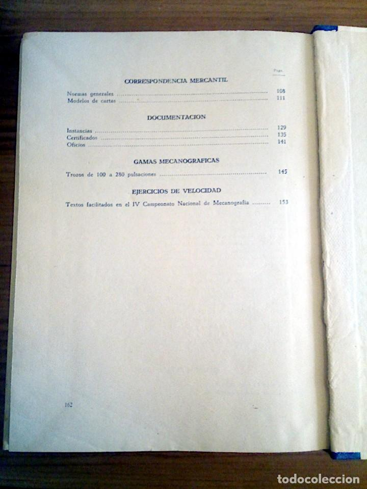 Libros de segunda mano: LA VERDADERA MECANOGRAFÍA AL TACTO. DOMINGO CASTAÑEDA, GREGORIO. RYVADENEYRA. 1 ª ED. 1949 - Foto 13 - 138945206