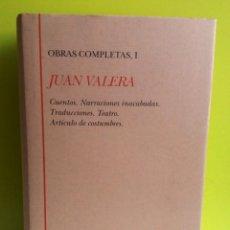 Libros de segunda mano: OBRAS COMPLETAS I. JUAN VALERA. BIBLIOTECA CASTRO TURNER.. Lote 139026310