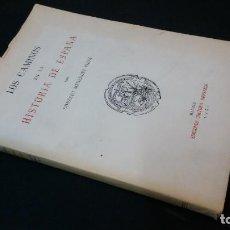 Libros de segunda mano: 1951 - GONZALO MENÉNDEZ PIDAL - LOS CAMINOS EN LA HISTORIA DE ESPAÑA. Lote 139044646