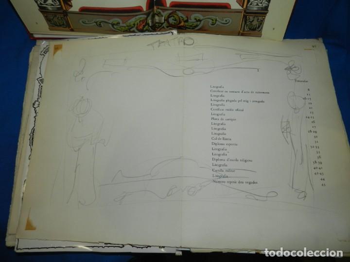 Libros de segunda mano: (M) FREGOLI - LIBRO + LIBRO PROYECTO ORIGINAL JOAN BROSSA Y ANTONI TAPIES , ANOTACIONES MANUSCRITAS - Foto 7 - 139329726
