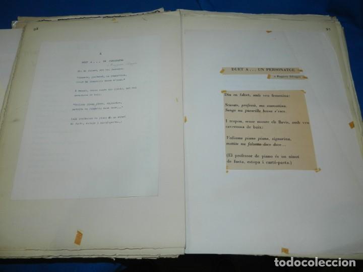 Libros de segunda mano: (M) FREGOLI - LIBRO + LIBRO PROYECTO ORIGINAL JOAN BROSSA Y ANTONI TAPIES , ANOTACIONES MANUSCRITAS - Foto 19 - 139329726