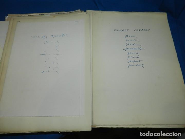 Libros de segunda mano: (M) FREGOLI - LIBRO + LIBRO PROYECTO ORIGINAL JOAN BROSSA Y ANTONI TAPIES , ANOTACIONES MANUSCRITAS - Foto 21 - 139329726