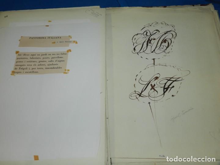 Libros de segunda mano: (M) FREGOLI - LIBRO + LIBRO PROYECTO ORIGINAL JOAN BROSSA Y ANTONI TAPIES , ANOTACIONES MANUSCRITAS - Foto 34 - 139329726