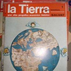 Libros de segunda mano: 17 FASCICULOS DE LA TIERRA ATLAS GEOGRAFICO ECONOMICO HISTORICO SALVAT EN CARPETA. Lote 139390414