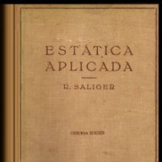 Libros de segunda mano: B1133 - ESTATICA APLICADA. CALCULO DE ESTRUCTURAS PARA CONSTRUCCIONES ELEVADAS Y HORMIGON ARMADO.. Lote 139404194