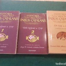 Libros de segunda mano: HISTÒRIA DELS PAÏSOS CATALANS- 3 VOLS. - SALRACH. DURAN. ARDIT. BALCELLS. Lote 139514922