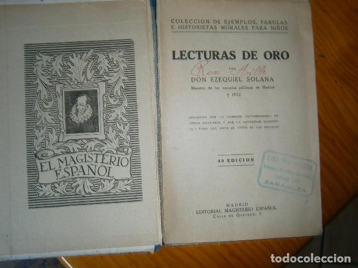 Libros de segunda mano: ¡¡EZEQUIEL SOLANA¡LECTURAS DE ORO¡¡NOSE SI FALTA ALGUNA PAGINA¡¡BUENA EDICCION¡¡ - Foto 8 - 139535202