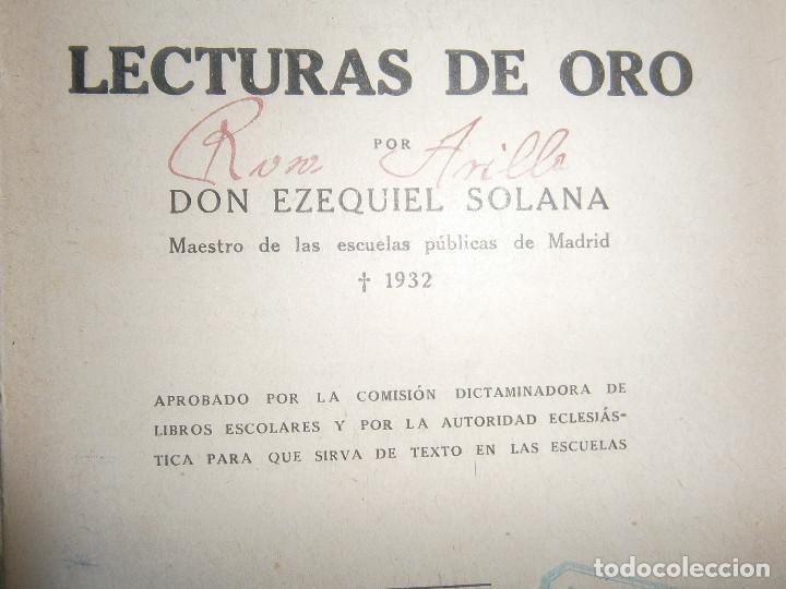 Libros de segunda mano: ¡¡EZEQUIEL SOLANA¡LECTURAS DE ORO¡¡NOSE SI FALTA ALGUNA PAGINA¡¡BUENA EDICCION¡¡ - Foto 10 - 139535202