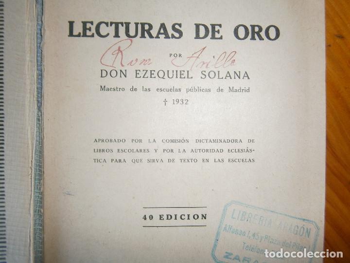 Libros de segunda mano: ¡¡EZEQUIEL SOLANA¡LECTURAS DE ORO¡¡NOSE SI FALTA ALGUNA PAGINA¡¡BUENA EDICCION¡¡ - Foto 11 - 139535202