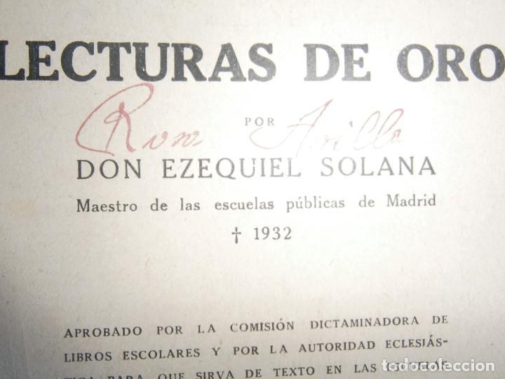 Libros de segunda mano: ¡¡EZEQUIEL SOLANA¡LECTURAS DE ORO¡¡NOSE SI FALTA ALGUNA PAGINA¡¡BUENA EDICCION¡¡ - Foto 12 - 139535202