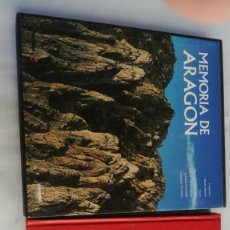 Libros de segunda mano: MEMORIA DE ARAGON-VARIOS AUTORES--LUNWERG- IBERCAJA-LUJO CON ESTUCHE. Lote 139585454