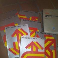 Libros de segunda mano: LOTE ANUARIO EL PAIS. Lote 139589438