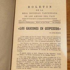 Libros de segunda mano: BOLETIN DE LA REAL SOCIEDAD VASCONGADA DE AMIGOS DEL PAIS-SS-TOMO21-1967(25€). Lote 139668210