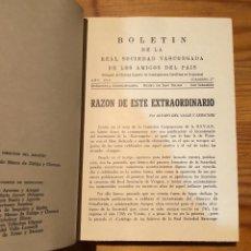 Libros de segunda mano: BOLETIN DE LA REAL SOCIEDAD VASCONGADA DE AMIGOS DEL PAIS-SS-TOMO22-1969(25€). Lote 139668258