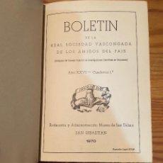 Libros de segunda mano: BOLETIN DE LA REAL SOCIEDAD VASCONGADA DE AMIGOS DEL PAIS-SS-TOMO23-1970(25€). Lote 139668322