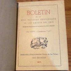 Libros de segunda mano: BOLETIN DE LA REAL SOCIEDAD VASCONGADA DE AMIGOS DEL PAIS-SS-TOMO24-1971(25€). Lote 157223722