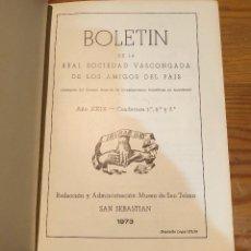 Libros de segunda mano: BOLETIN DE LA REAL SOCIEDAD VASCONGADA DE AMIGOS DEL PAIS-SS-TOMO26-1973(25€). Lote 139668438