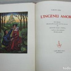 Libros de segunda mano: L'INGENU AMOR. RIBA, CARLES. 1948. IL·LUSTRAT PER ANTONI OLLÉ I PINELL. BIBLIOFILIA.. Lote 139812342