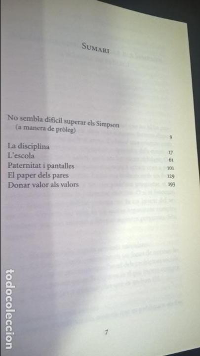 Libros de segunda mano: VAL MES EDUCAR: CONSELLS ALS PARES, A FAVOR DEL SENTIT COMU. PORTIC VISIONS 2014 1ª EDICION.CATALAN. - Foto 3 - 139821434