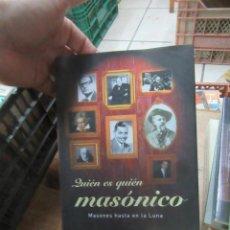 Libros de segunda mano: LIBRO QUIÉN ES QUIÉN MASÓNICO XAVIER CASINOS 2003 MARTINEZ ROCA L-14508-248. Lote 139851466
