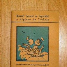 Libros de segunda mano: SALINAS SALAZAR, ESTEBAN. MANUAL GENERAL DE SEGURIDAD E HIGIENE EN EL TRABAJO. Lote 139964322