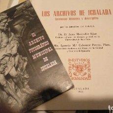 Libros de segunda mano: ARCHIVO IGUALADA / ARXIU IGUALADA. Lote 140201438
