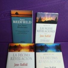 Libros de segunda mano: LAS NUEVE REVELACIONES. LAS DIEZ Y LAS GUÍAS. LOTE. JAMES REDFIELD.. Lote 140271036