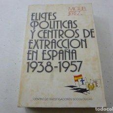 Libros de segunda mano: ELITES POLÍTICAS Y CENTROS DE EXTRACCIÓN EN ESPAÑA 1938-1957, MIGUEL JEREZ- CCC 4. Lote 140304374