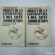 Libros de segunda mano: ORIGEN DE LA LITERATURA Y DEL ARTE MODERNOS. I MANIERISMO. CRISIS RENACIMIENTO. II PINTURA. TDK355. Lote 140386894