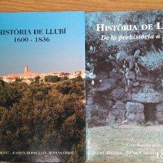 Libros de segunda mano: HISTORIA DE LLUBÍ TOMO I - II. Lote 140418574