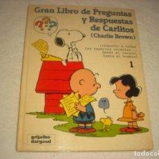 Libros de segunda mano: GRAN LIBRO DE PREGUNTAS Y RESPUESTAS DE CARLITOS ( CHARLIE BROWN) Nº 1. GRIJALBO.. Lote 140479374