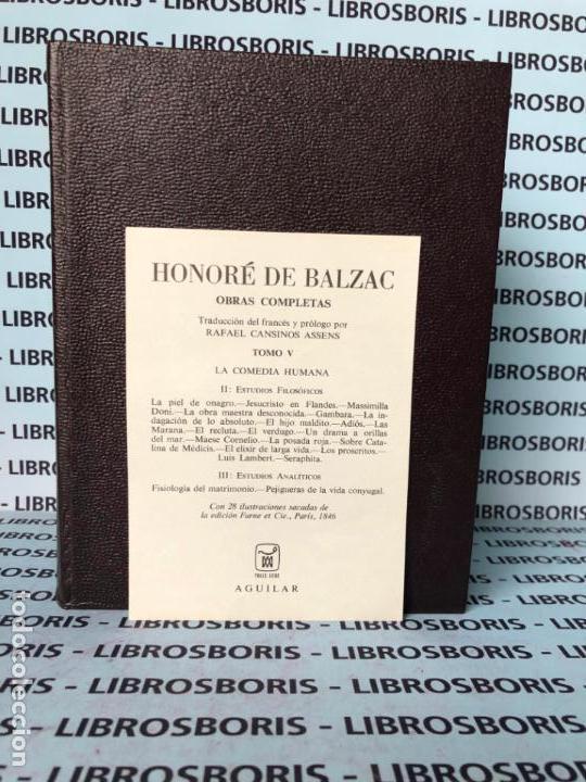 Libros de segunda mano: BALZAC - OBRAS COMPLETAS - TOMO V - AGUILAR - OBRAS ETERNAS - Foto 3 - 140540634