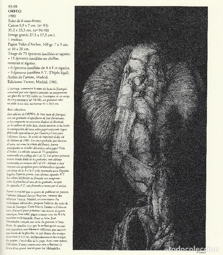 Libros de segunda mano: JOSÉ HERNÁNDEZ OBRA GRÁFICA COMPLETA 1967 1996 CATÁLOGO RAZONADO DEDICADO Y FIRMADO A MANO MUY RARO - Foto 14 - 140591754